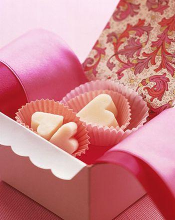 Creamy Fudge Hearts from Martha Stewart