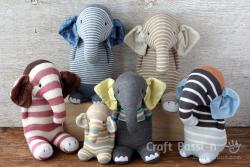 Sock-elephant-family