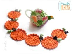 Free_Halloween_Thanksgiving_Pumpkin_Coasters_Crochet_Pattern_3