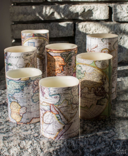 Antique-World-Map-Decoupaged-Candles-25