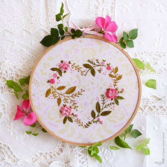 EmbroideredFlowerHeart