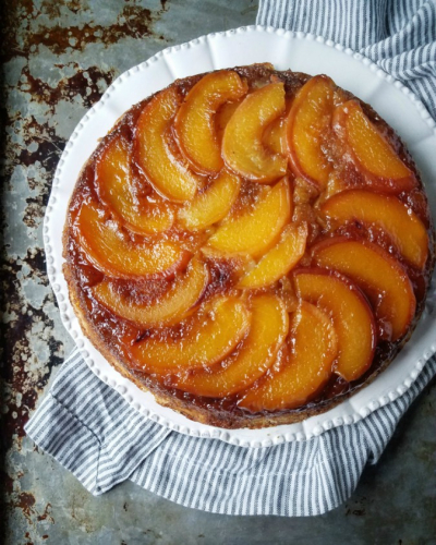 Recipe PEACH UPSIDE-DOWN CAKE from SECRETS OF THE SOUTHERN TABLE