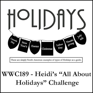 WWC189 - Heidi's All About Holidays Challenge