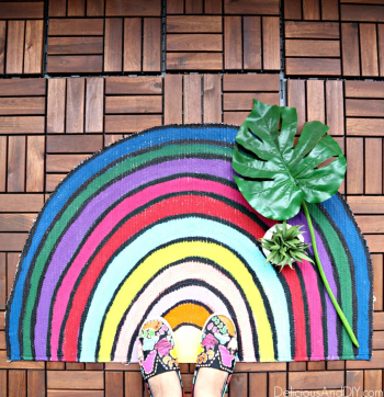 DIY-Rainbow-Inspired-Colorful-Rug-Makeover8