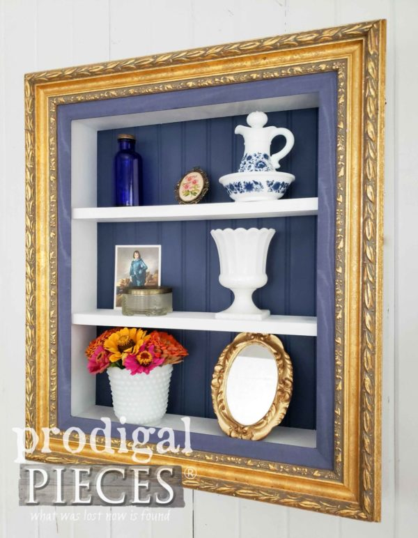 Handmade-picture-frame-shelf-600x772