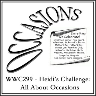 WWC299 - Heidi's All About Occasions Challenge